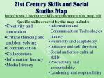 21st century skills and social studies map