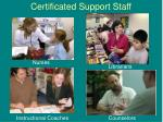 certificated support staff