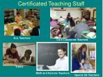 certificated teaching staff