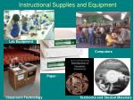 instructional supplies and equipment