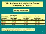 why are some districts so low funded compared to others