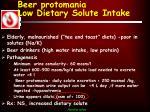 beer protomania low dietary solute intake