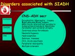 disorders associated with siadh