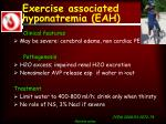 exercise associated hyponatremia eah