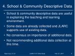 4 school community descriptive data