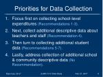 priorities for data collection