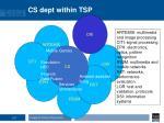 cs dept within tsp
