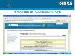 hpsa find by address report