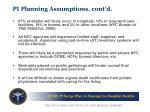 pi planning assumptions cont d