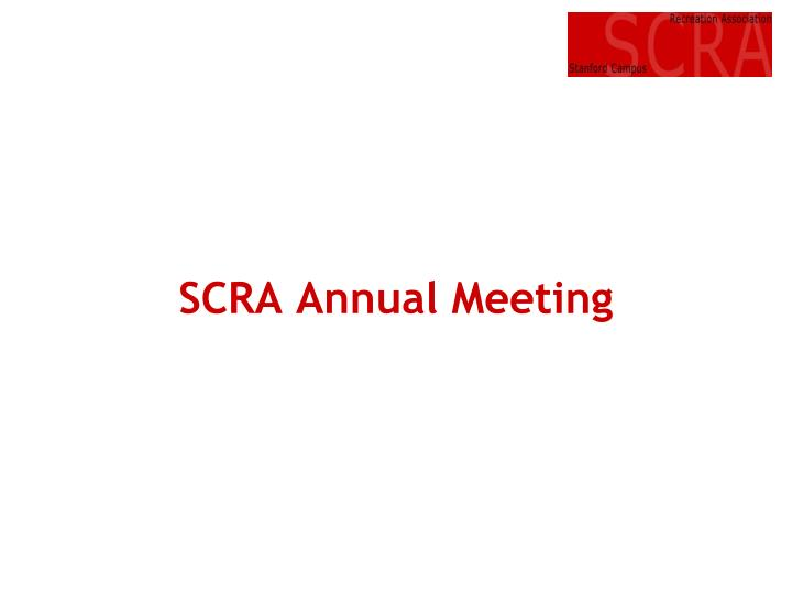 scra annual meeting n.