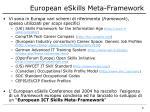 european eskills meta framework