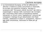 l azione europea