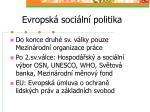 evropsk soci ln politika