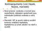 kontraargumenty von hayek nozick marxist