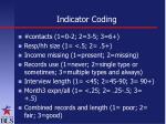 indicator coding