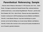 parenthetical referencing sample