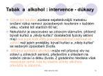 tab k a alkohol intervence d kazy
