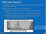cpu idle pattern