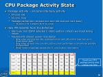 cpu package activity state