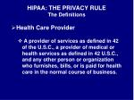 hipaa the privacy rule the definitions1