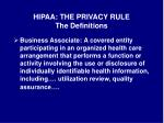 hipaa the privacy rule the definitions3