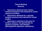 tissue banking sources