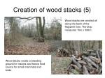 creation of wood stacks 5