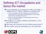 defining ict occupations and hence the market