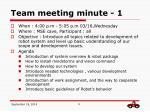 team meeting minute 1