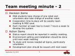team meeting minute 2