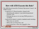how will atis execute this role