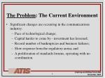 the problem the current environment