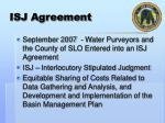 isj agreement