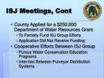 isj meetings cont