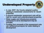 undeveloped property