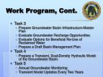 work program cont1