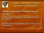 studium pan lsk filologie na univerzit palack ho