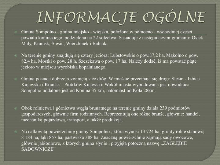 Informacje og lne