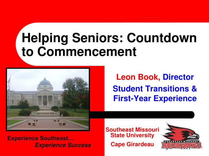 helping seniors countdown to commencement n.