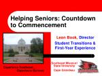 helping seniors countdown to commencement