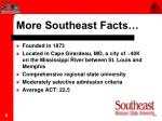 more southeast facts