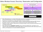 metro wireless access discovery reservation and configuration