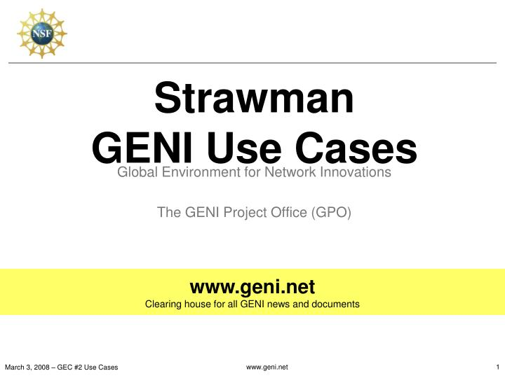 strawman geni use cases n.