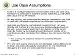 use case assumptions1
