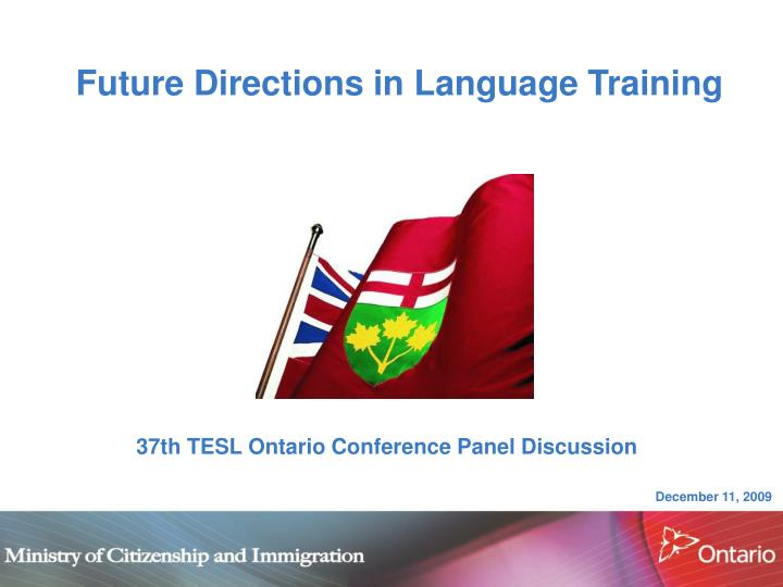 future directions in language training n.