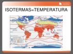 isotermas temperatura
