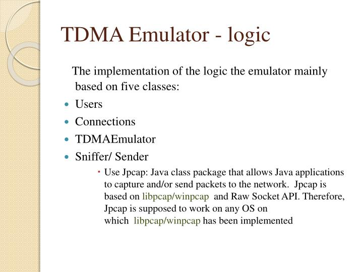 tdma emulator logic n.