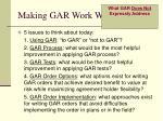 making gar work well5