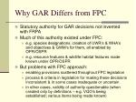 why gar differs from fpc