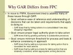 why gar differs from fpc1